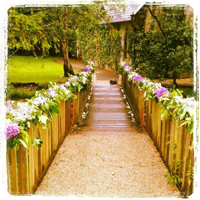 Summer Wedding Flowers Ideas: Summer Wedding Bridge Decoration By The Flower Boutique