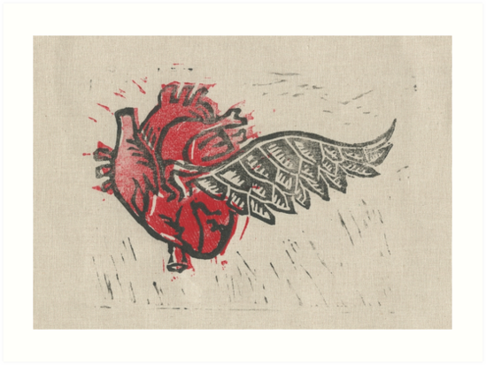 As the Heart Flies by Stacie Arellano on Redbubble.