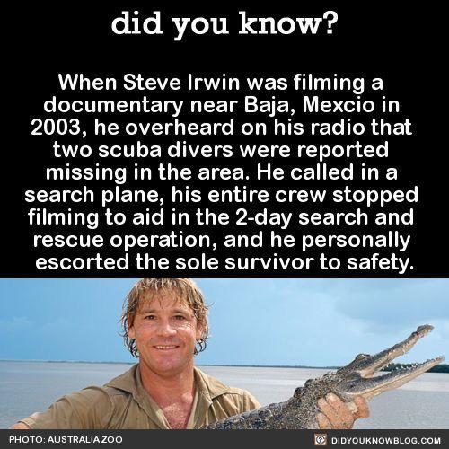 Steve Irwin The Crocodile Hunter Useless Knowledge Steve Irwin Wtf Fun Facts
