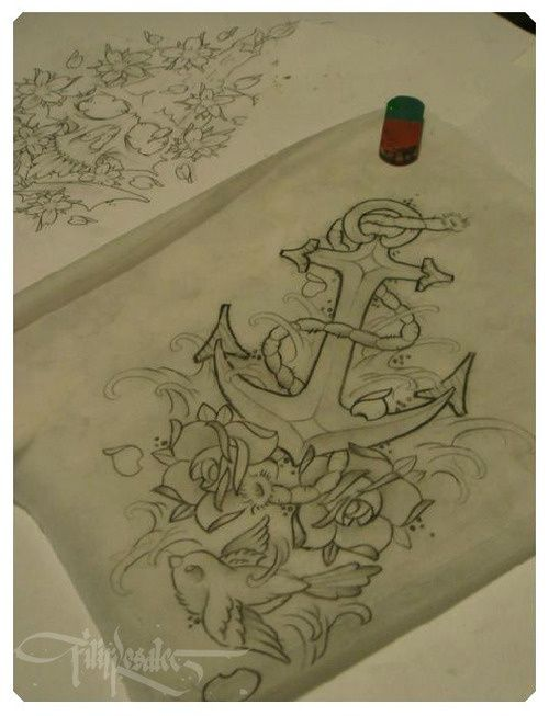 Anchor Sketch more of a new traditional style.