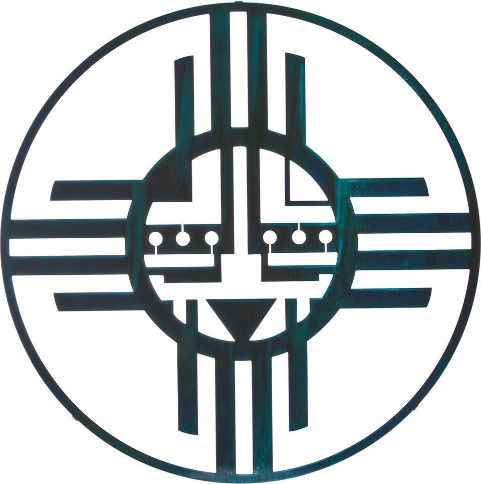 Native American Sun Symbols Native American Sun Circle Teal Patina