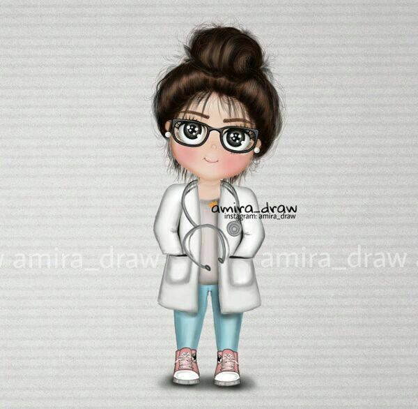 رسومات بنات دكتوره Doctor Painting Girl Doctor Cute Cartoon Wallpapers