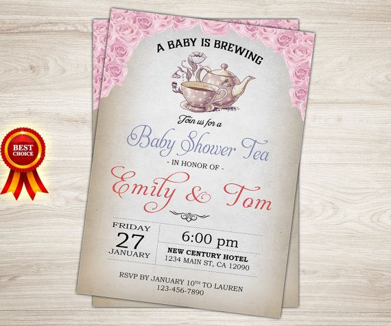 Baby shower tea party invitation vintage tea party invite high tea baby shower tea party invitation vintage tea party invite high tea baby shower invitation filmwisefo