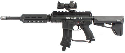 Black Tippmann X7//Phenom Tactical Shroud G36 Paintball