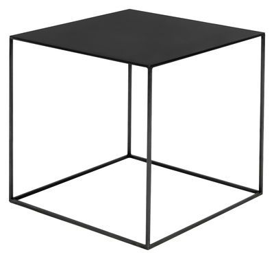 Zeus Slim Irony Coffee Table Black Made In Design Uk Meuble Pour Platine Vinyle Table Basse Meuble Pas Cher