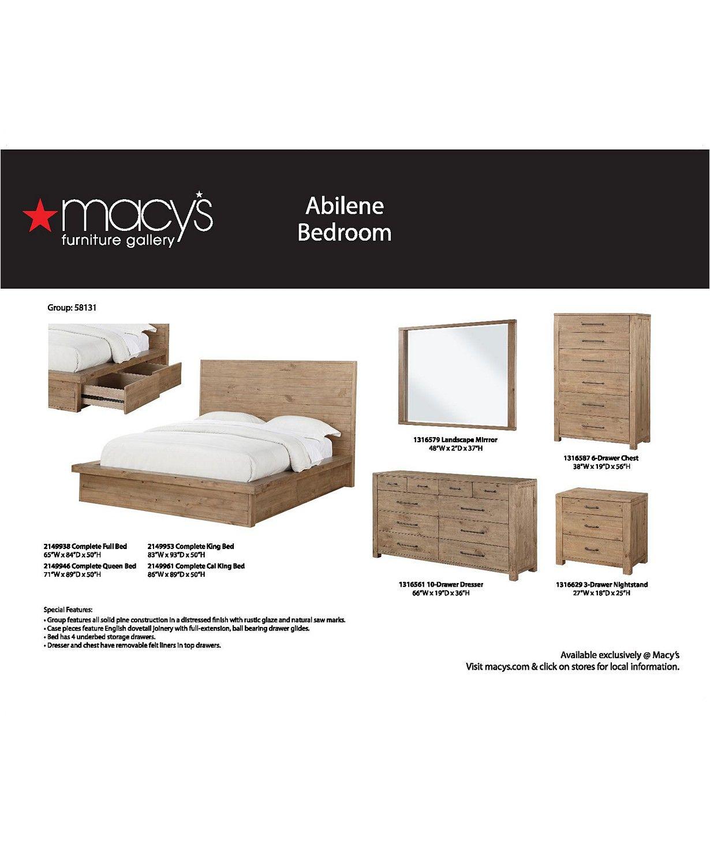 Furniture Abilene Solid Pine Storage Platform Bedroom Furniture