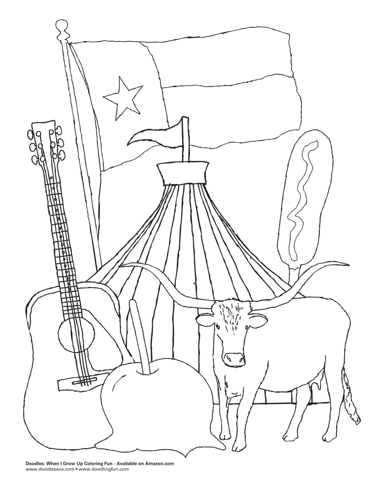 Pin on Coloring:Texas Coloring Book