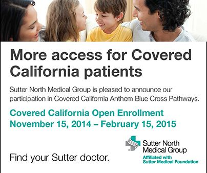 Sutter North Medical Group is pleased to announce