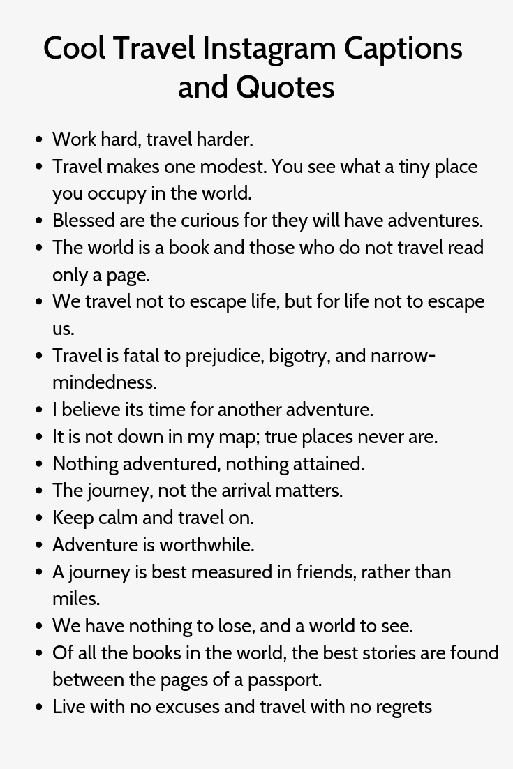 Cool Travel Instagram Captions And Quotes Witty Instagram Captions Instagram Captions For Selfies Instagram Captions