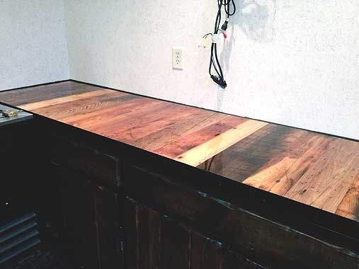 Superbe Beautiful Wooden Bartop (from Cozy Cabin Outfitters) For The Side Bar  Downstairs.