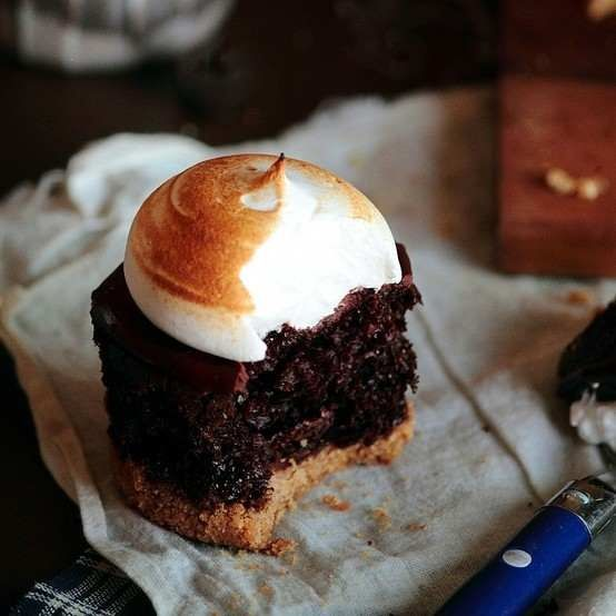 cupcake, s'mores