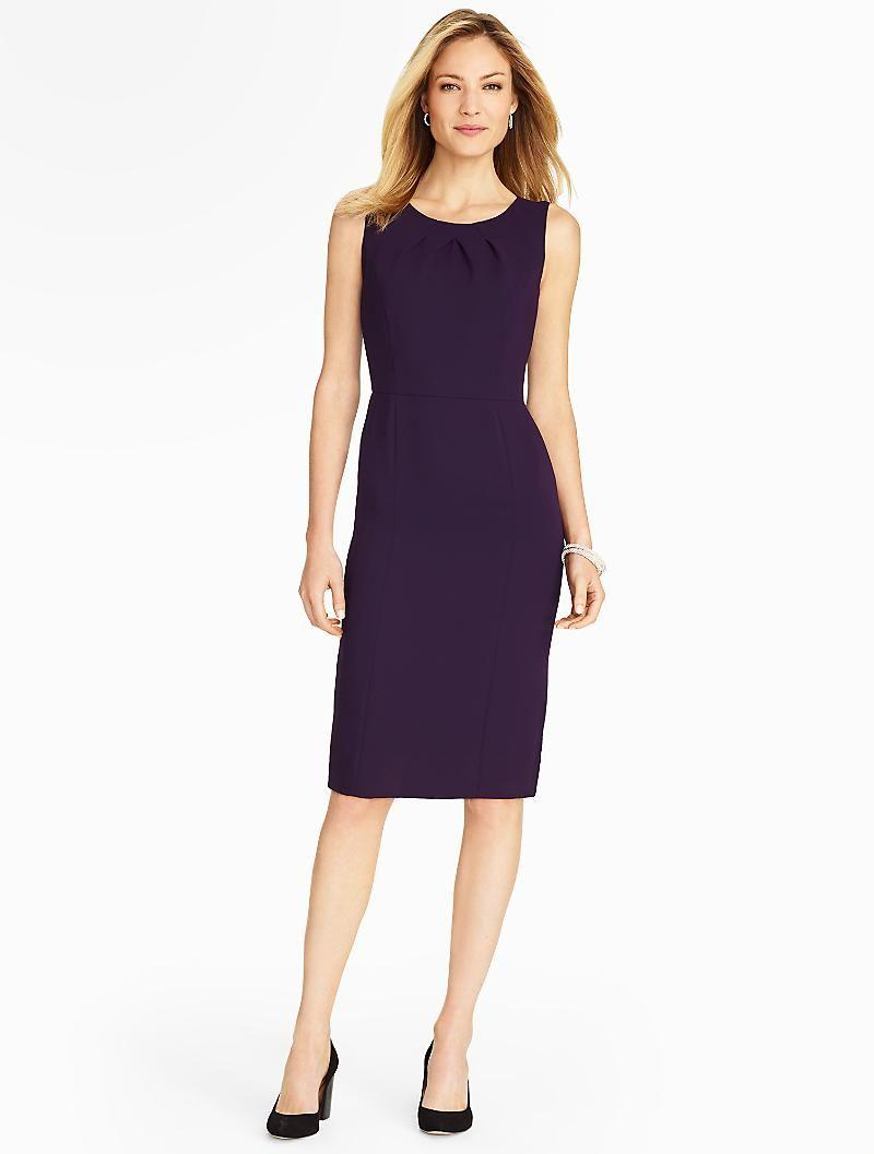 a31fdec5 Talbots - Seasonless Crepe Sheath   Dresses   Petites   dresses-2 ...
