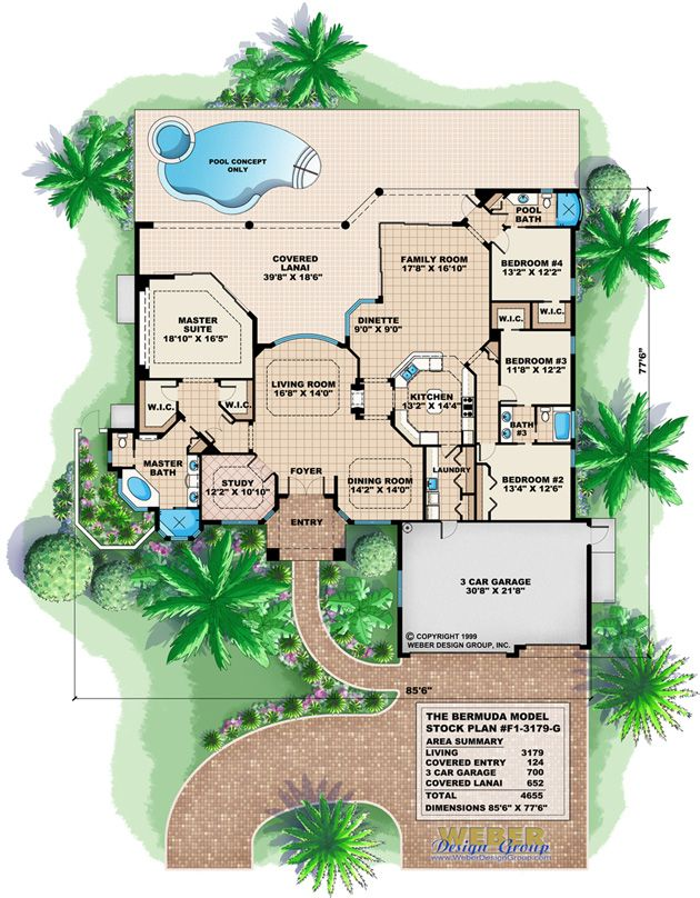 West Indies House Plan 2 Story Caribbean Beach Home Floor Plan Mediterranean Style House Plans House Plans How To Plan