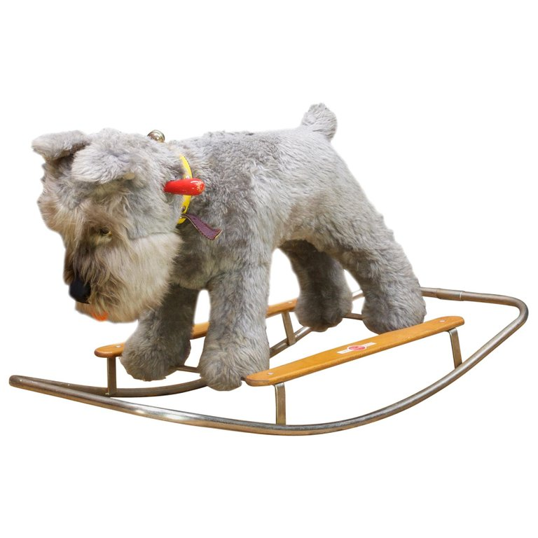 Blue Terrier Dog Childs Rocking Chair Giocattoli Trudi Italy