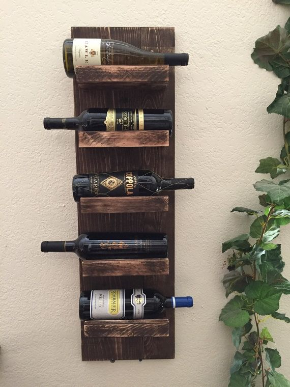 Rustic Wine Rack Wall Mount Wine Rack Shabby By Rustikcreation