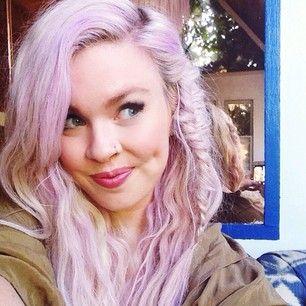 pastel purple hair + fishtail
