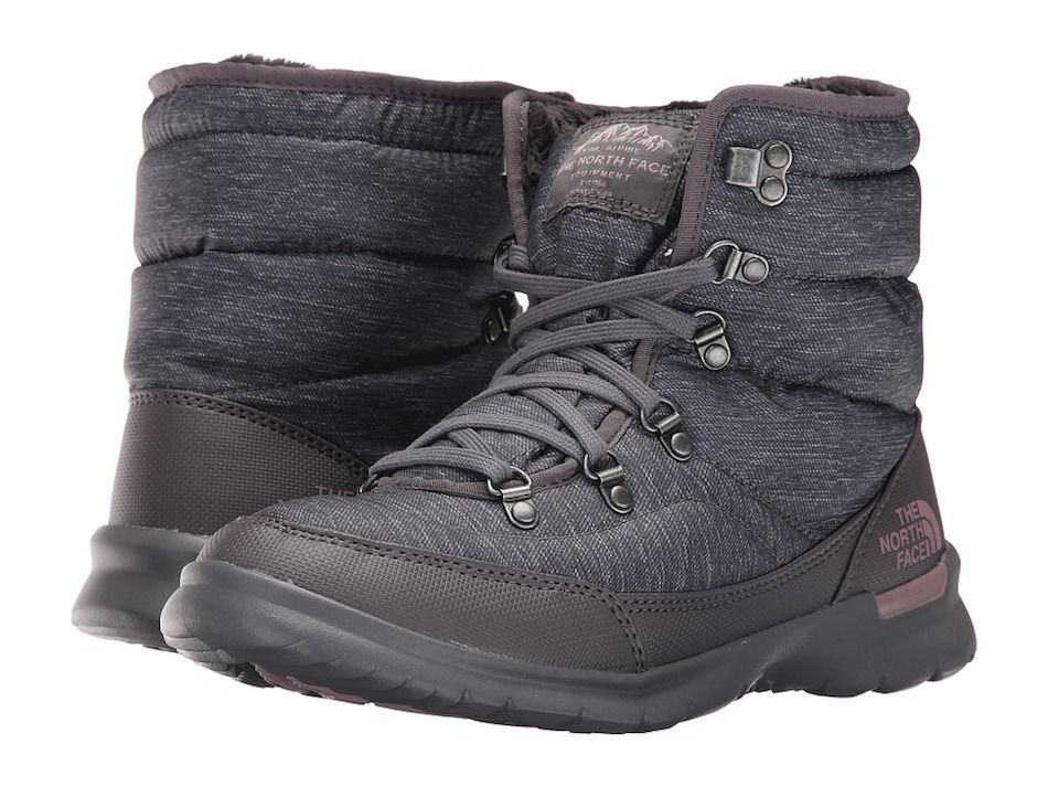 Best Place To Buy Womens Boots The North Face Thermoball Lace II Phantom Grey Heather Print Quail
