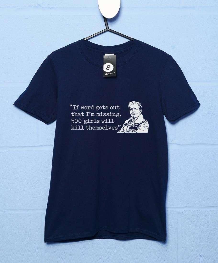 500 Girls - Lord Flashheart Quote T Shirt - Navy / Medium