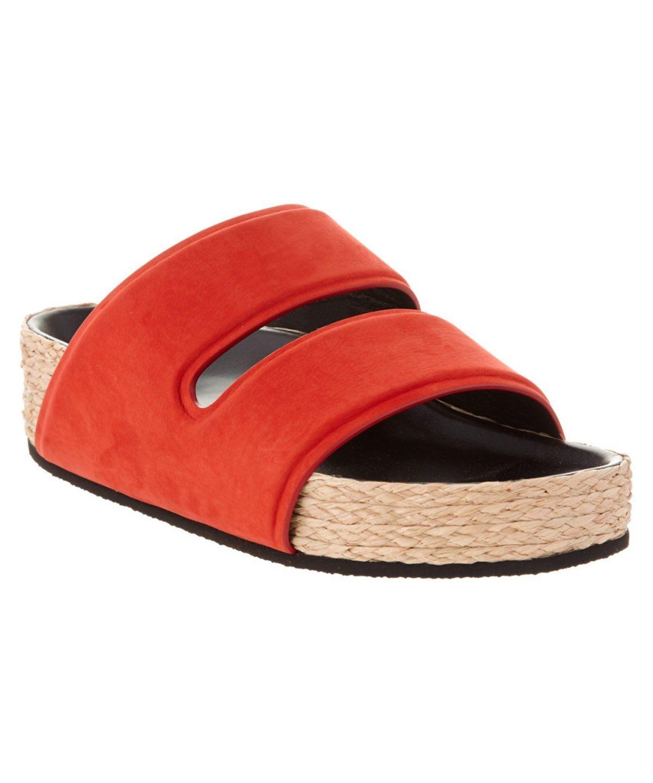 0272f902e CELINE CELINE BOXY DOUBLE BAND NUBUCK SANDAL .  celine  shoes  sandals