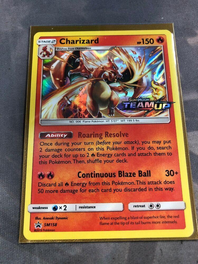 Prerelease Sun /& Moon Pokemon Charizard SM158 Team Up