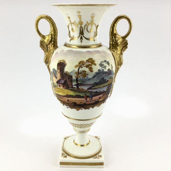 Onlinegalleries Swansea Vase With Dolphin Handles Scene C