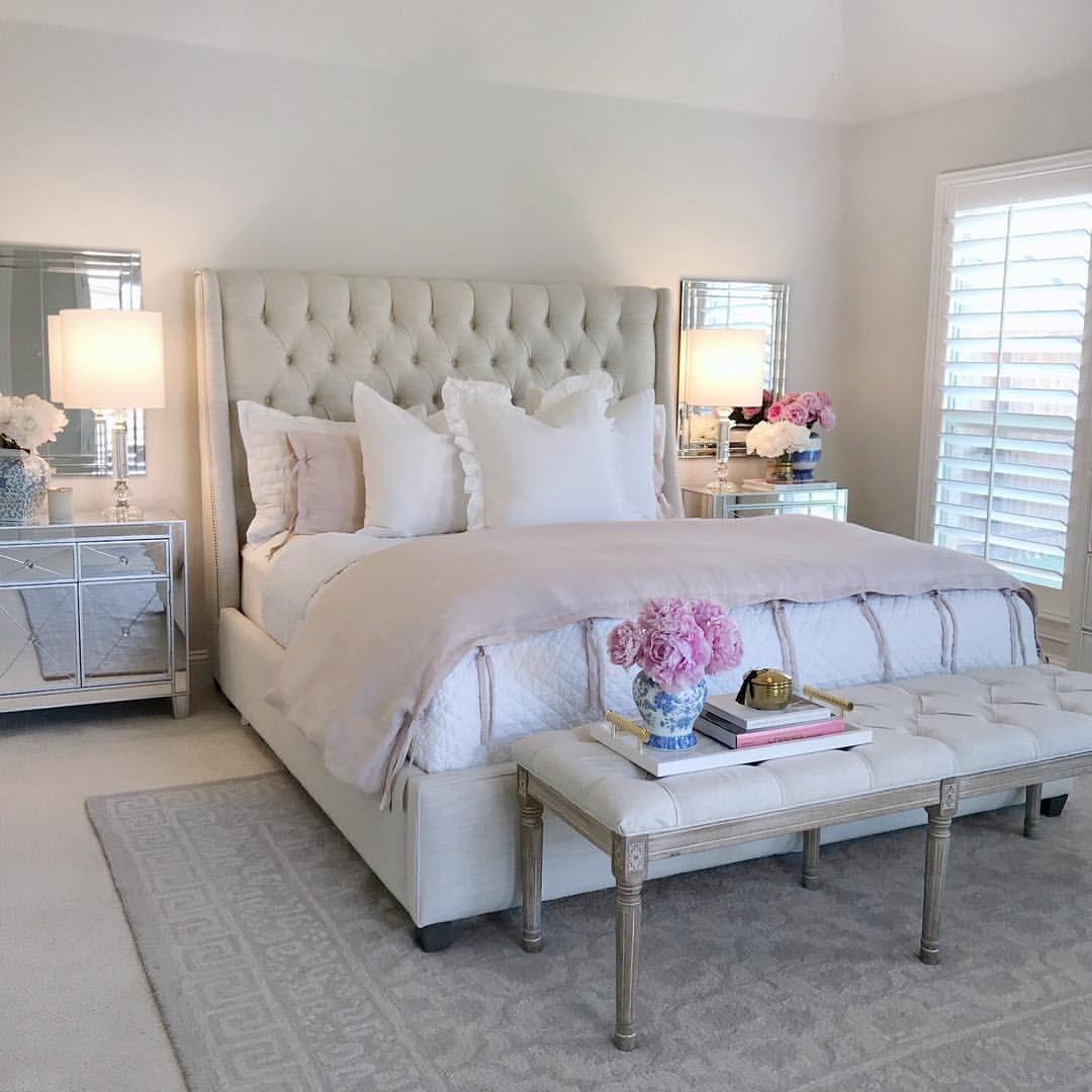 bedroomideas #bedroom #homeinspiration bedroom styling, mirrored
