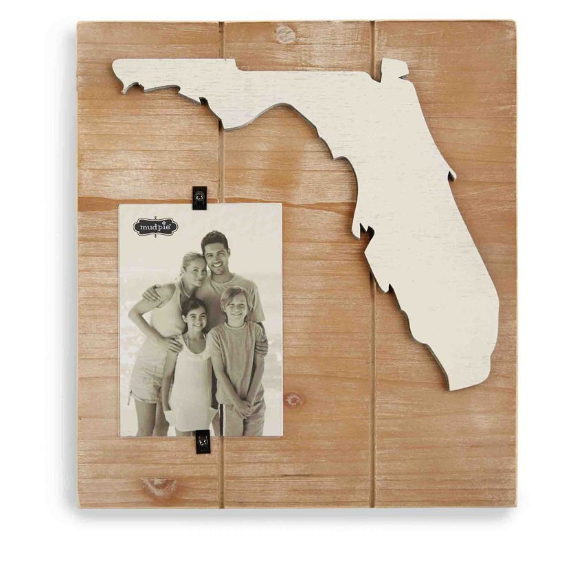 Distressed and planked beach blues frame features frame on frame ...