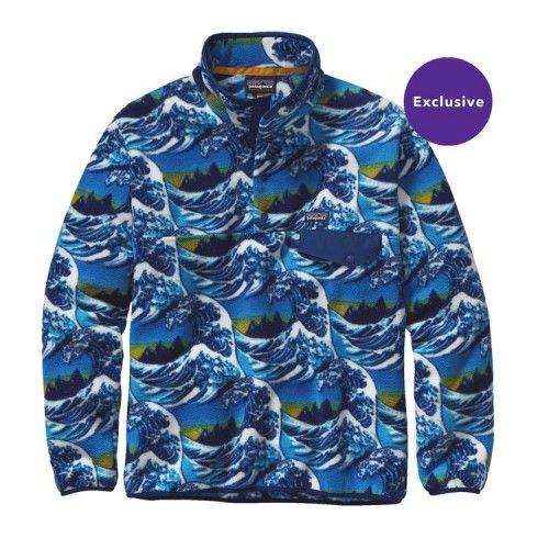 1a5aba06 Patagonia Men's Lightweight Synchilla® Snap-T® Fleece Pullover 25580  Fitzroy Wave: Channel Blue (FWVB)