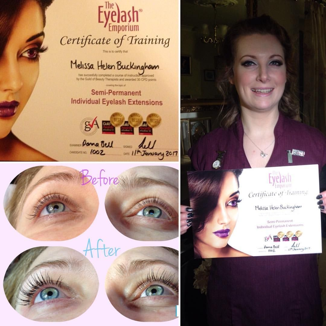 Proud To Have Passed The Eyelash Extension Course Case Studies