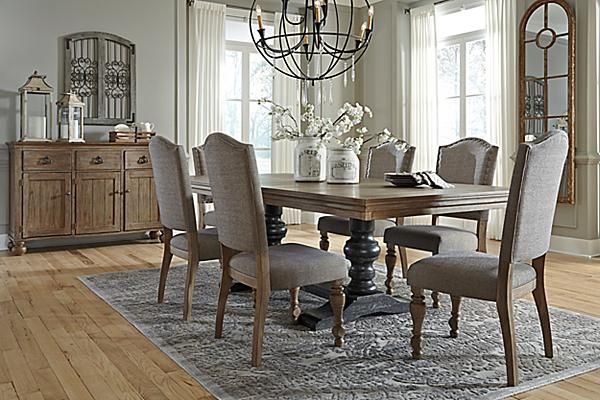 The Tanshire Dining Room Table From Ashley Furniture HomeStore AFHS Perfectly