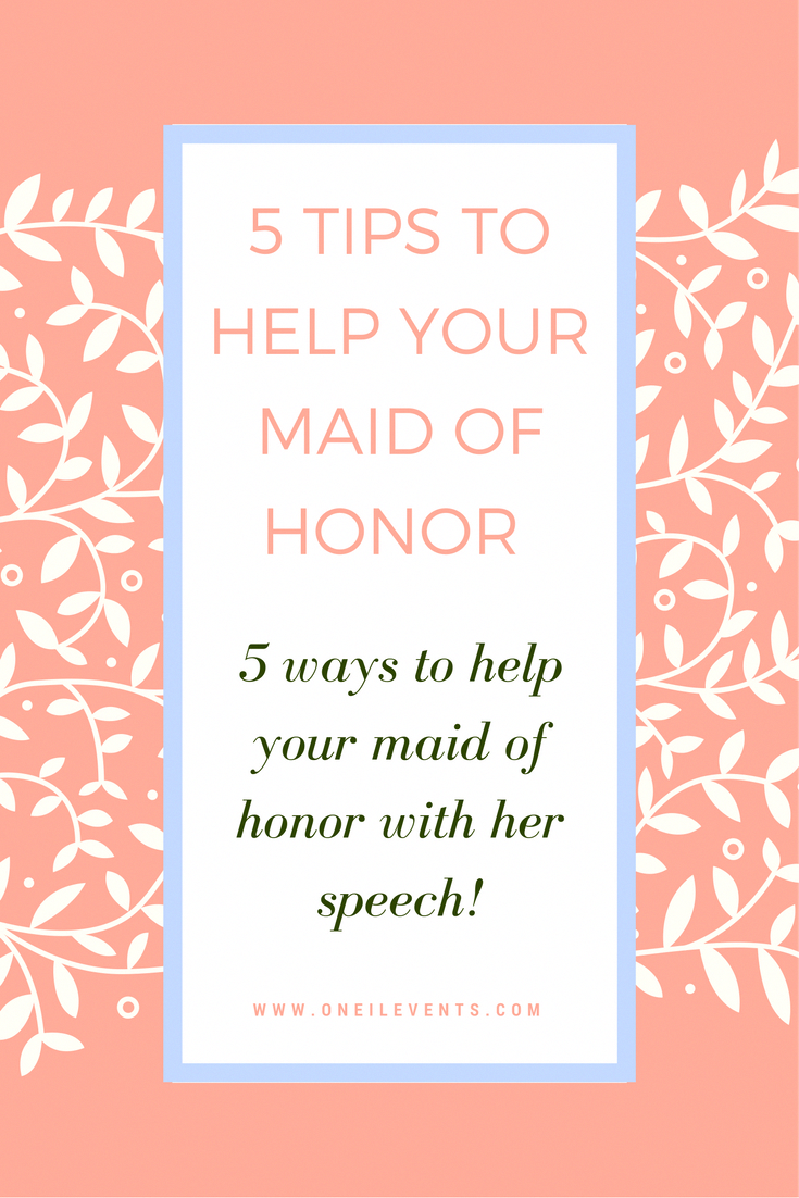 need maid of honor speech ideas?! here are a few ways you, as the