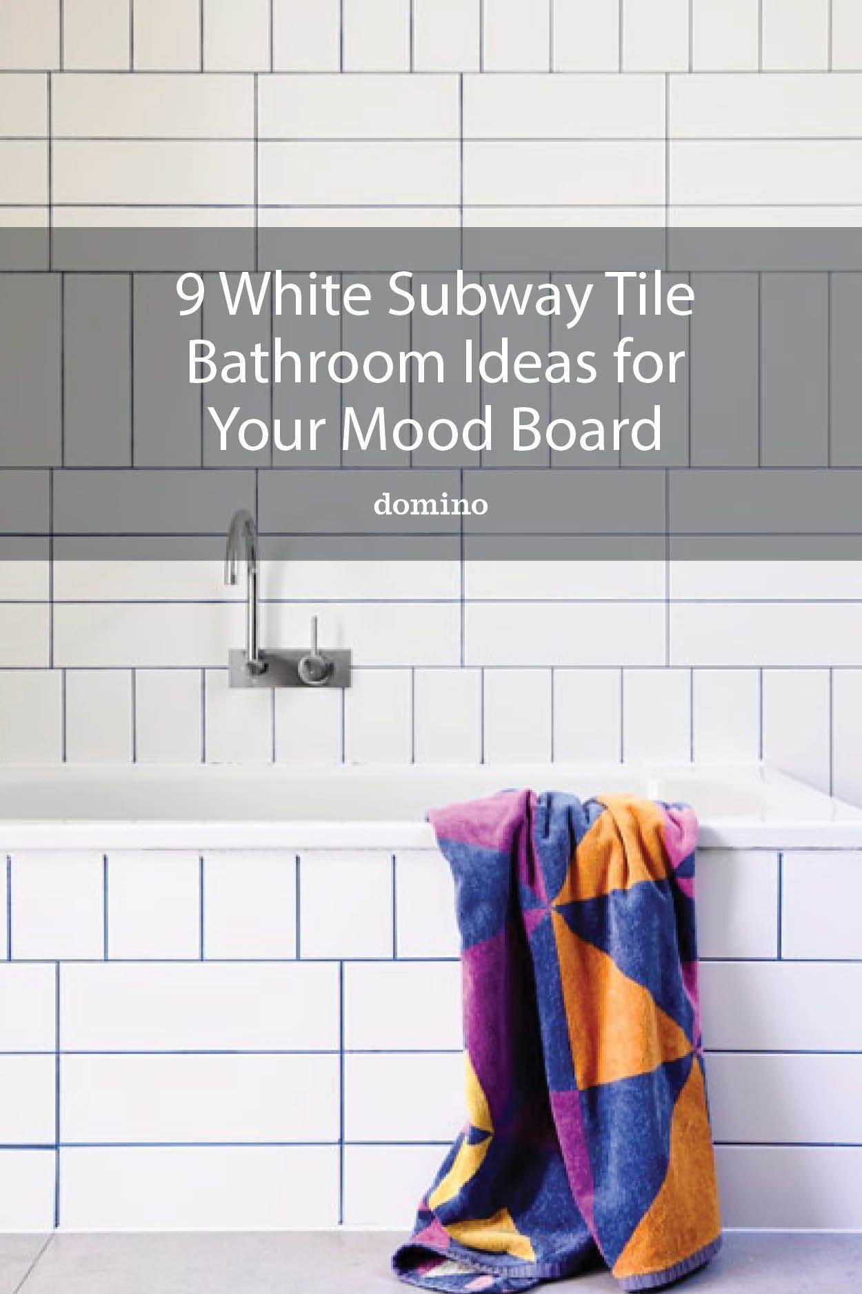9 White Subway Tile Bathroom Ideas For Your Mood Board In 2020 White Subway Tile Bathroom Subway Tiles Bathroom Tile Bathroom