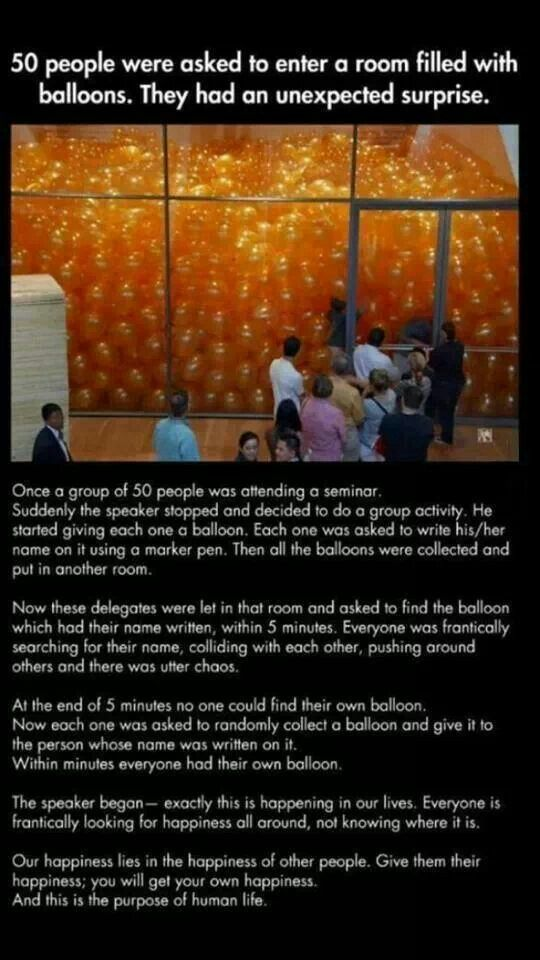 Incredible exercise in selfless giving.