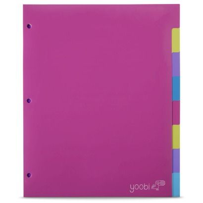yoobi 8pk index dividers multicolor