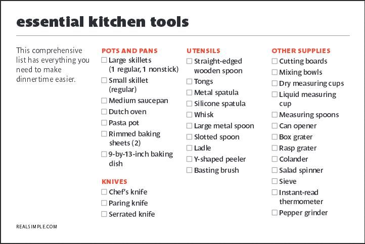 Essential Kitchen Tools Http Www Realsimple Food Recipes