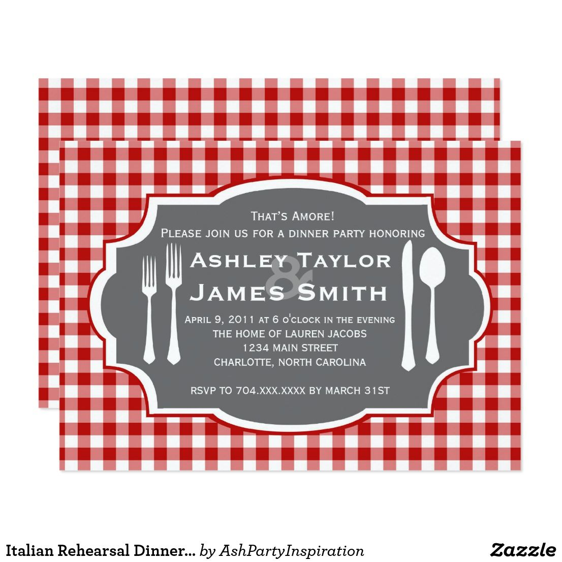 Italian Rehearsal Dinner Invitation | Rehearsal dinner invitations ...
