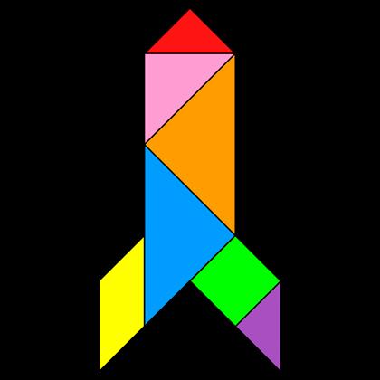 Tangram Rocket Tangram Solution 57 Providing Teachers And