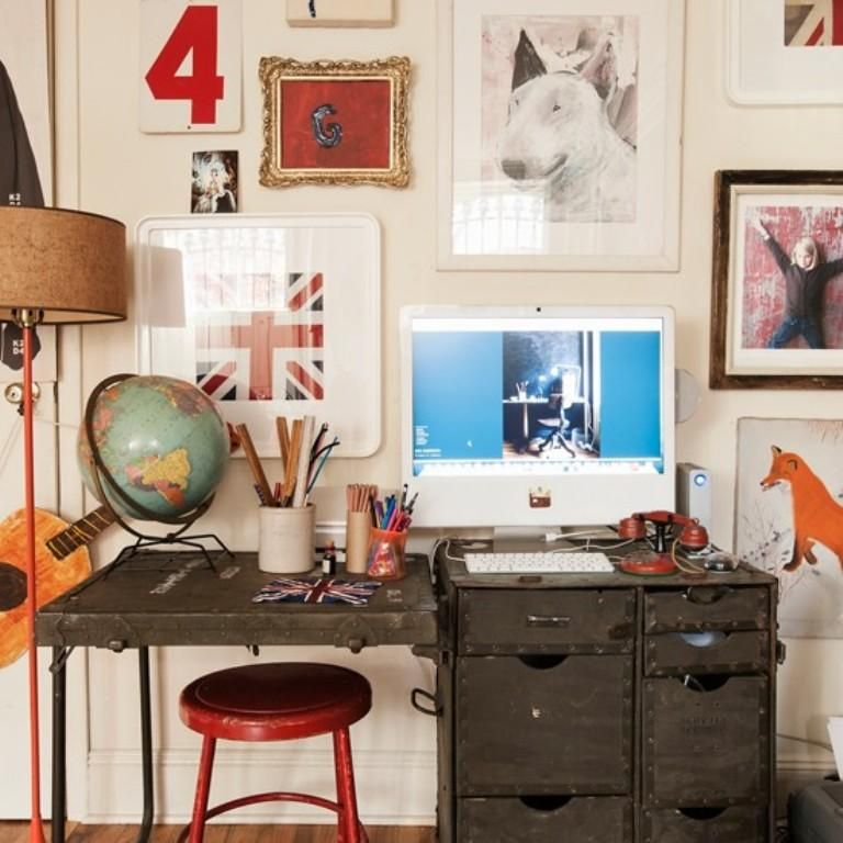 Perfect Fun And Eclectic White Home Office 768×768