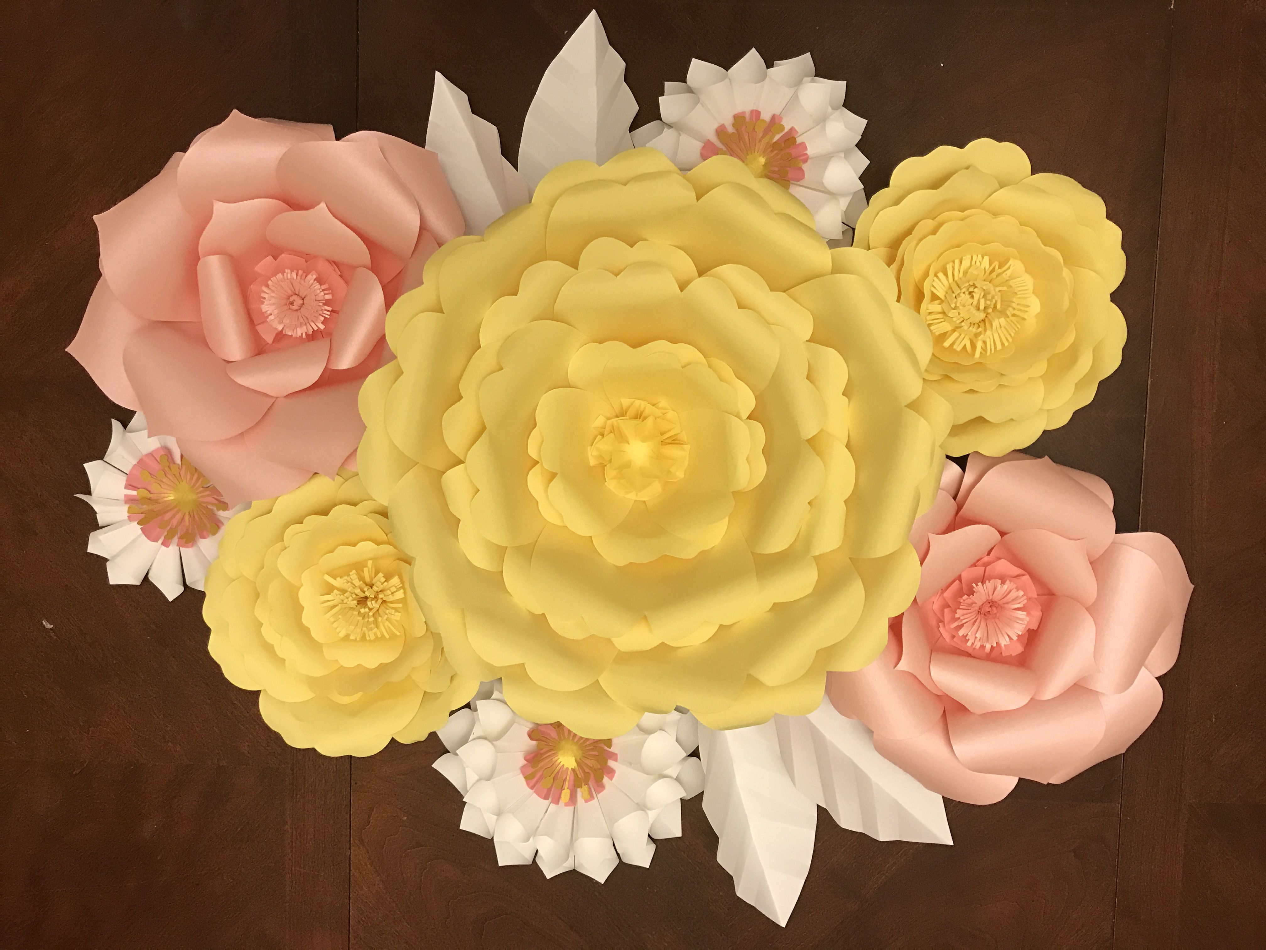 Spring colors. Yellows and soft blush pink. Event or Home Decor ...