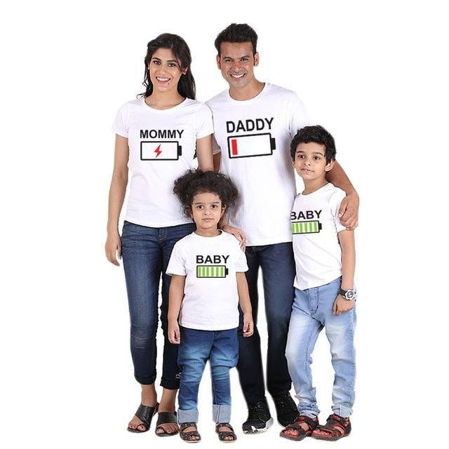 0d1617fa2366 Family Matching Father Mother Daughter Son T-shirts (Design 5