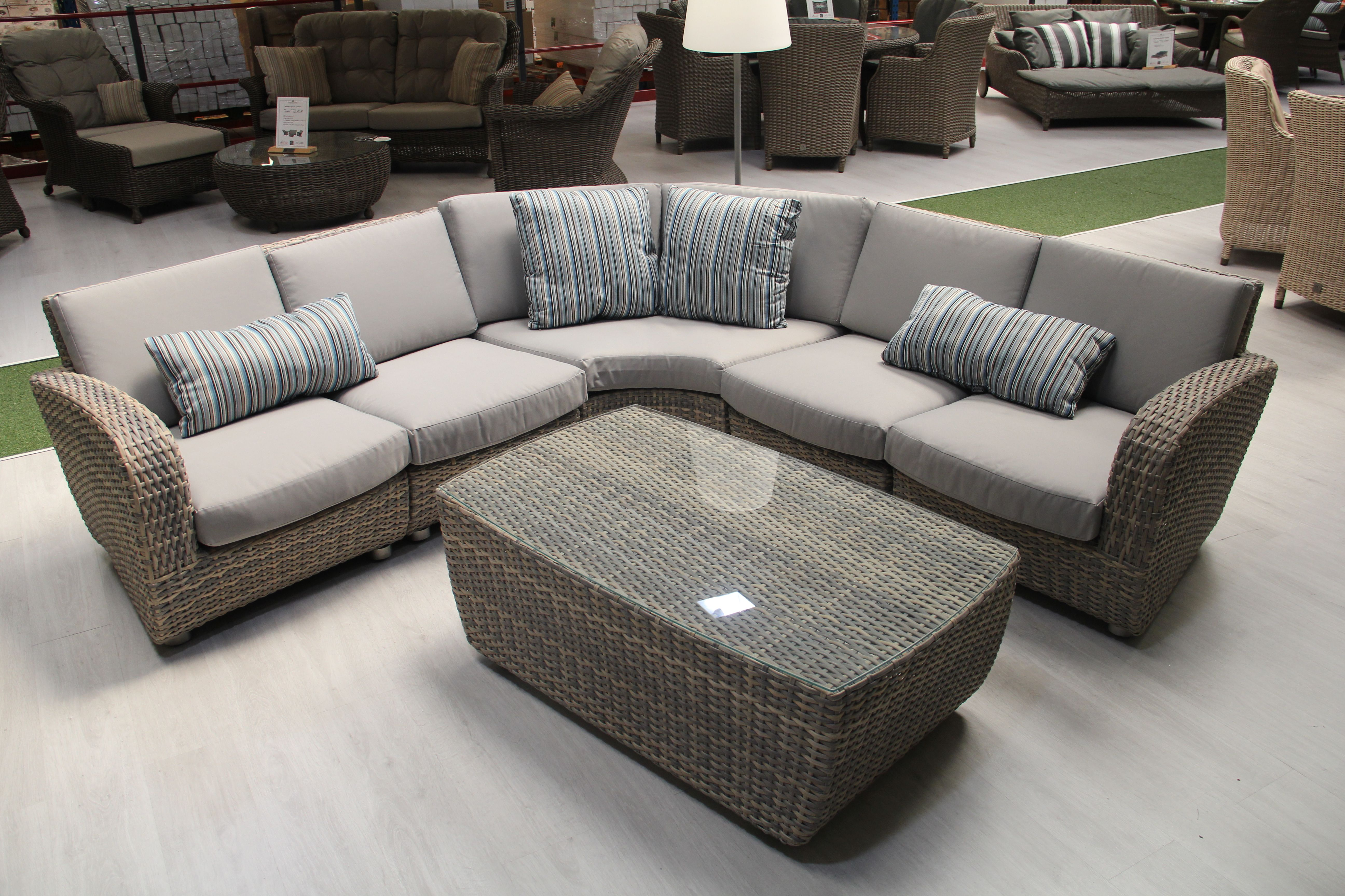 Bon Barbados Corner Sofa Set With Coffee Table By 4 Seasons Outdoor And White  Stores (pictured