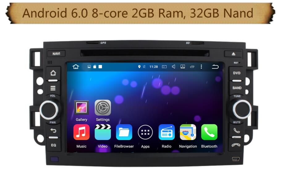 8 Core Android 6 0 Car Dvd Gps Navi Audio For Chevrolet Aveo Epica