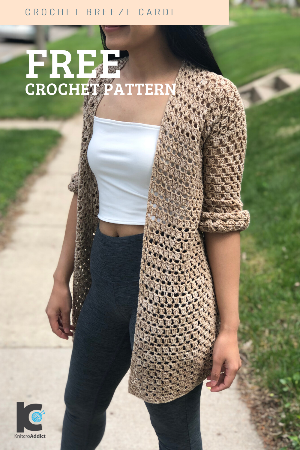 Crochet Breeze Cardigan | Free Crochet Pattern and Video Tutorial XS-XXL