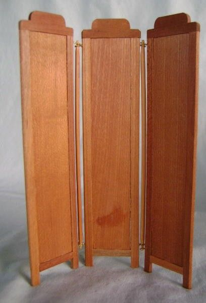 Privacy dressing screens doll house wood folding