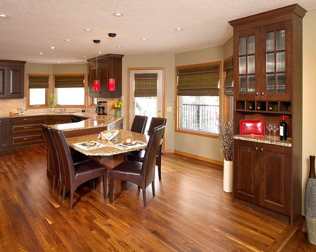 20 Great Contemporary Dining Rooms With Combination Of Light Wood Flooring