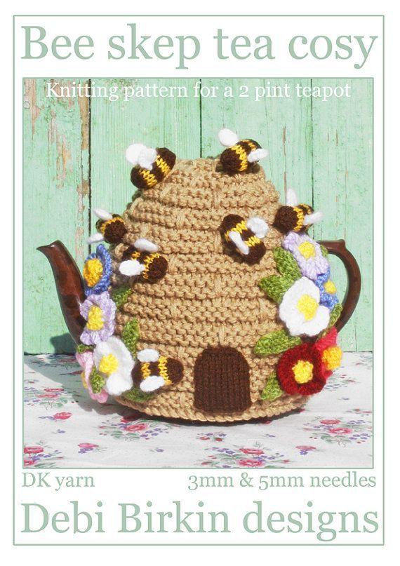 Beehive Knitting Pattern Bee Hive Skep Tea Cosy Teacozy Cozy Cosies