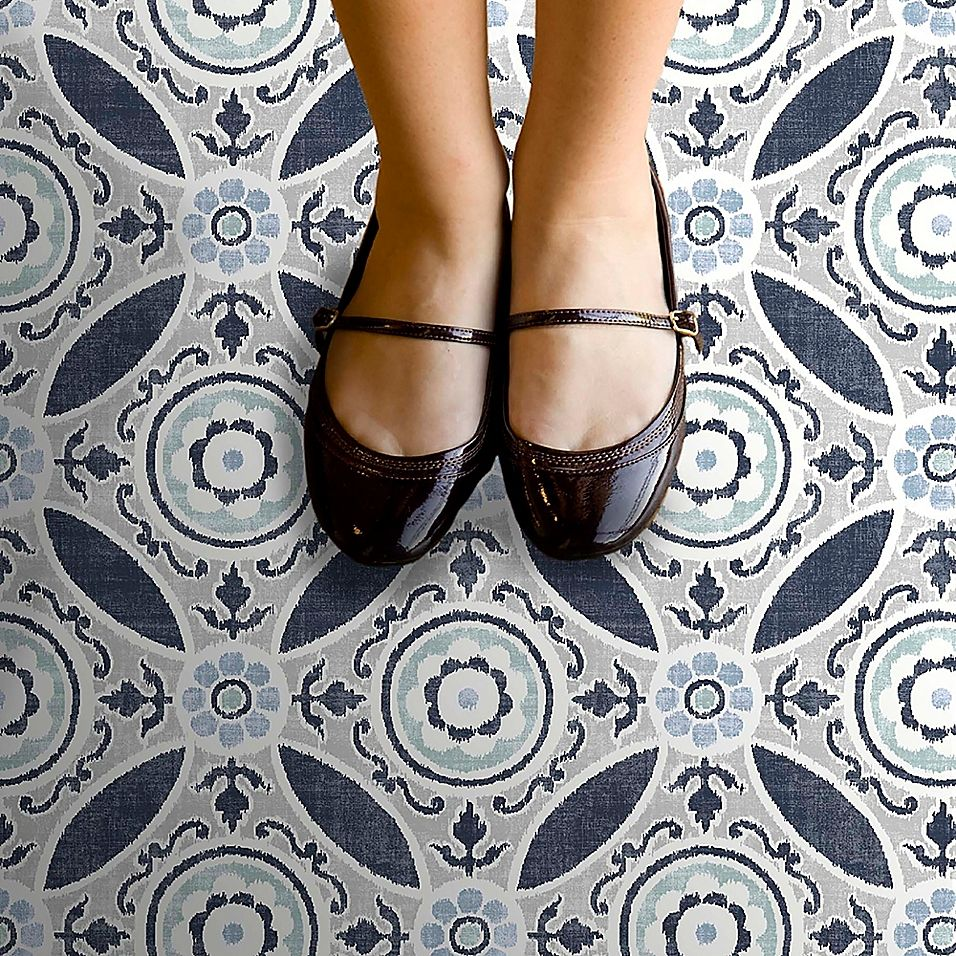 Floorpops Sienna Tiles Peel & Stick Wall Paper In Blue
