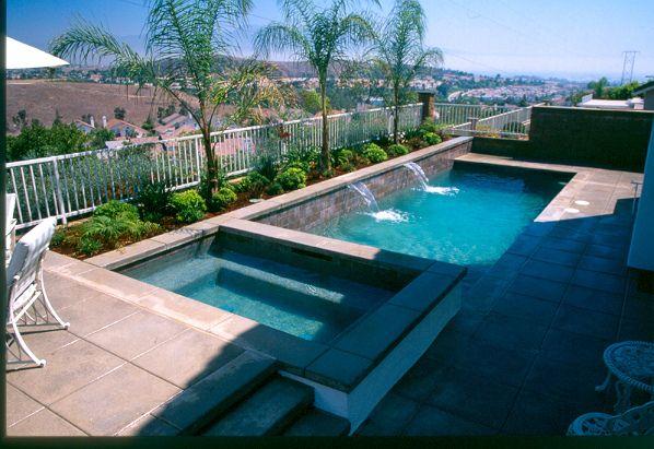 Rectangle Pool Amp Spa Small Pools Rectangle Pool