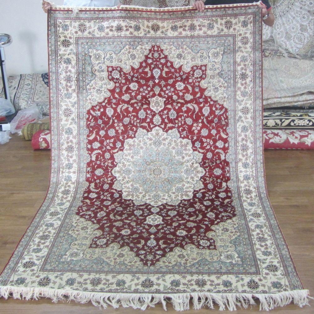 Traditional Kashmir Silk Handmade Hand Knotted Persian: Rug Storage Tubes