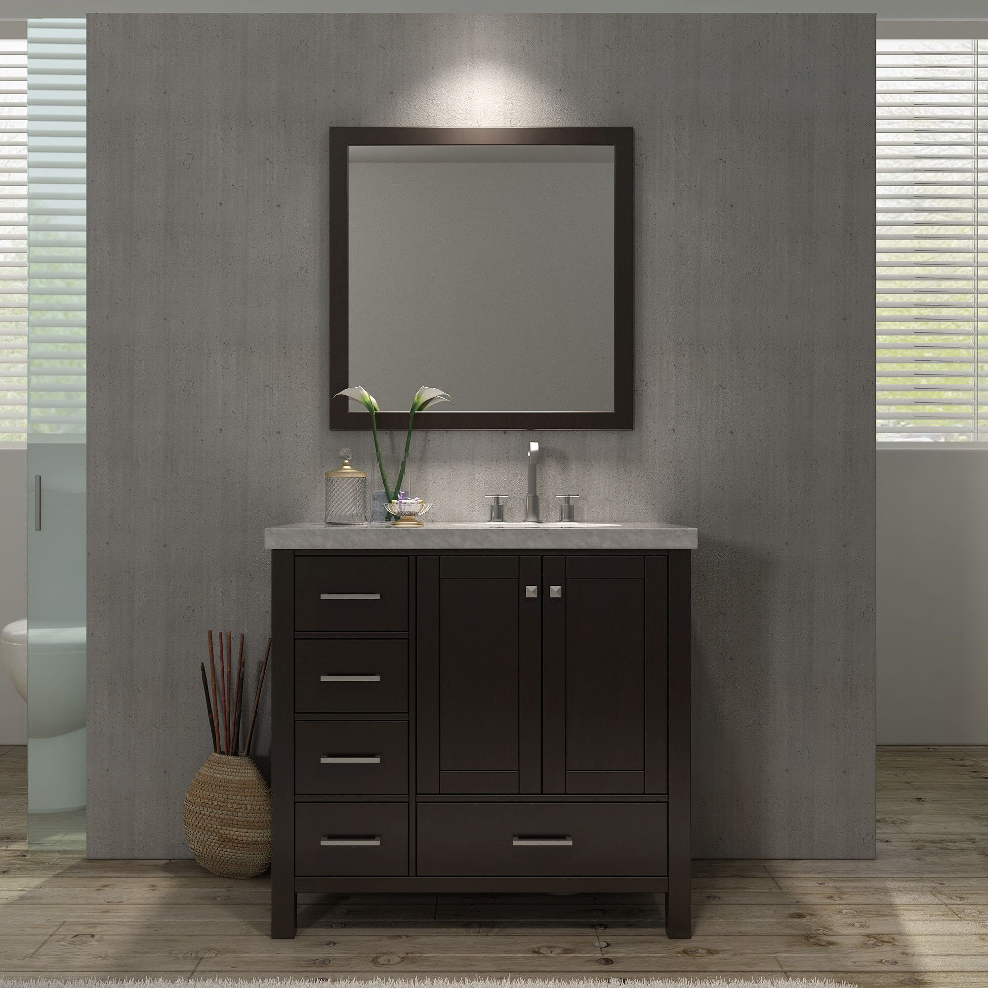 "You'll love the Cambridge 37"" Single Bathroom Vanity Set with Mirror at Wayfair - Great Deals on all Home Improvement  products with Free Shipping on most stuff, even the big stuff."